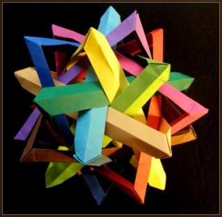 10 triangles, Robert J. Lang