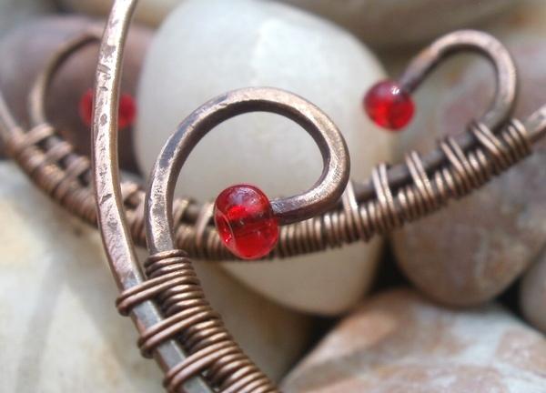 медные серьги кольца