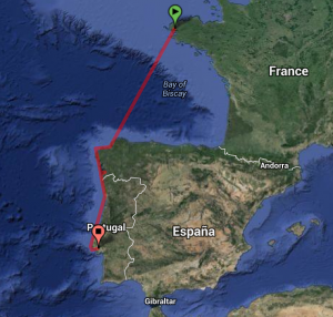 Brest - Lisboa route August 2013