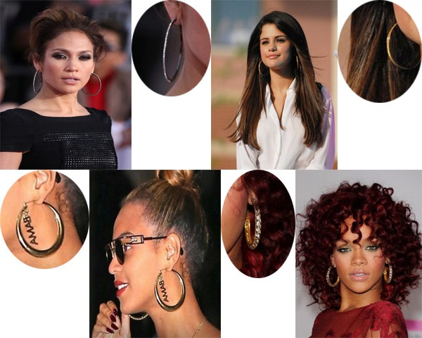 Celebrity hoops earring