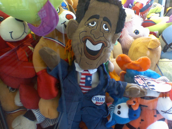 Obama! Stuck in a CLAW MACHINE!