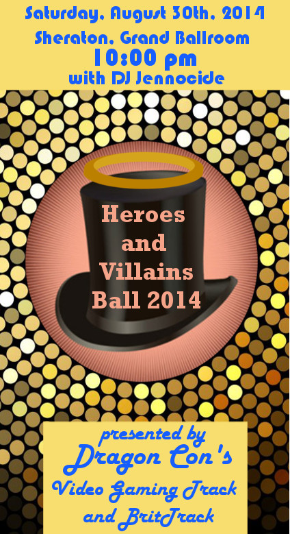 Hereos and Villains ball Flyer 2014