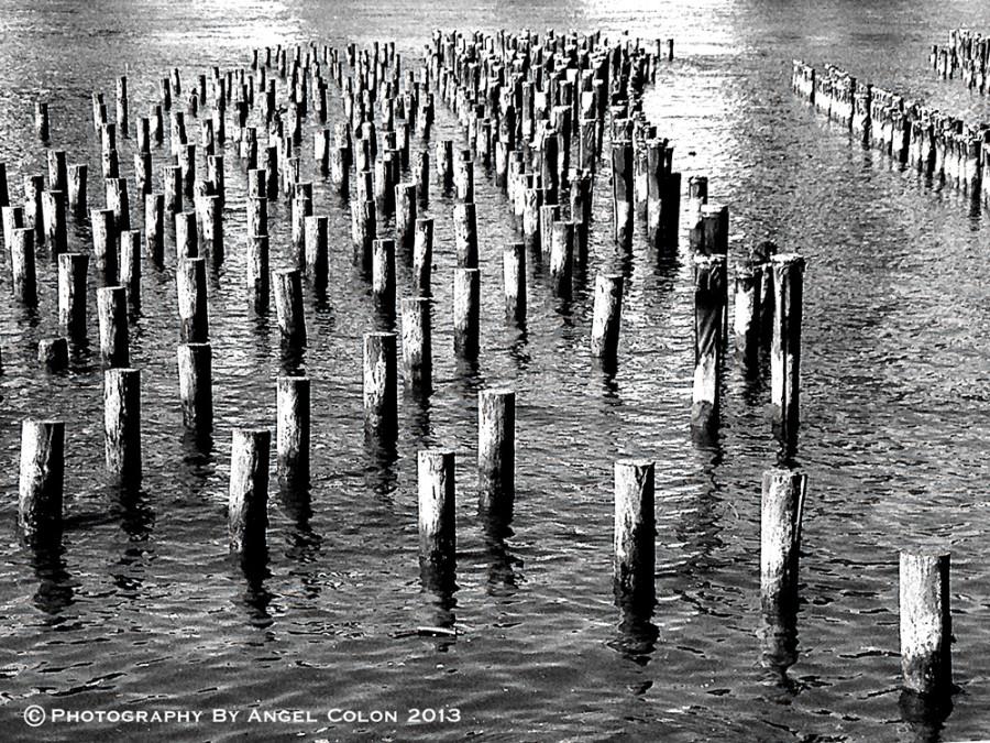 Brooklyn-Pier-Posts-BW