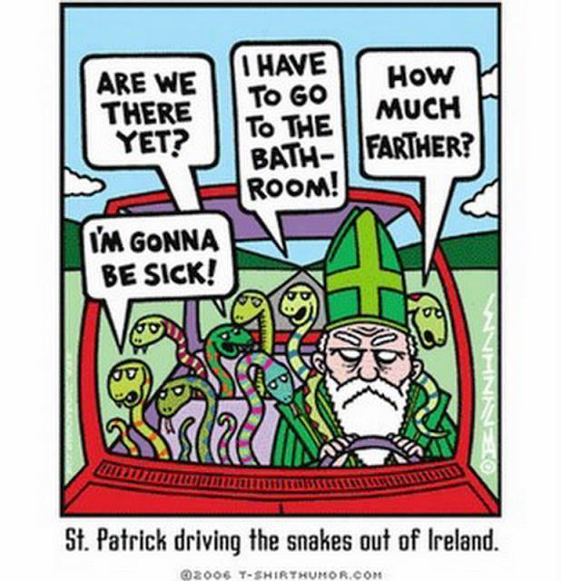 Св. Патрик вывозит змей из Ирландии