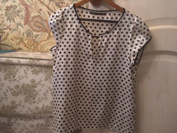 зара блузка в полоску