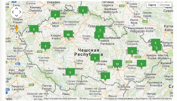 отделения Сбербанка в Чехии