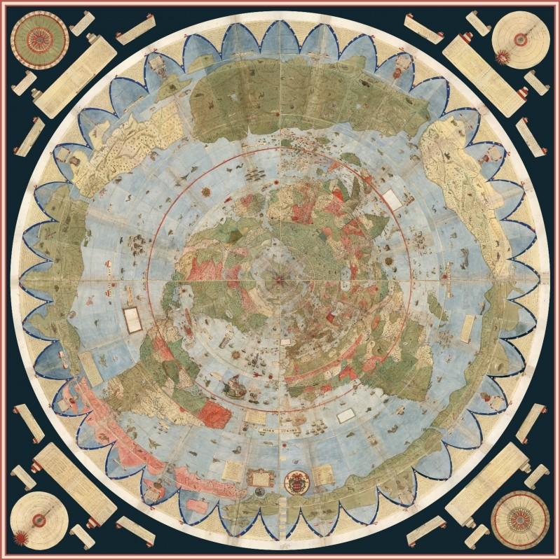 Карта мира Урбано Монте (1587)