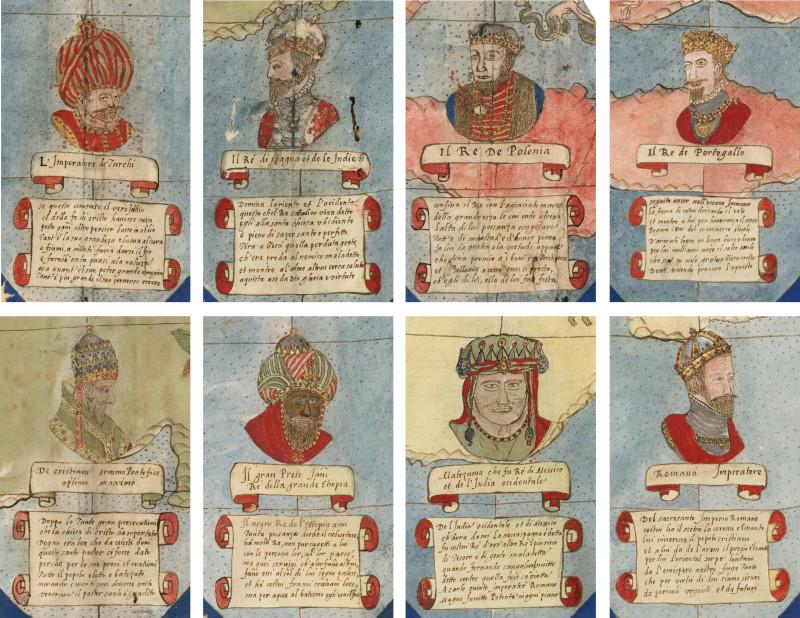 Детали портретов из 12 тавол