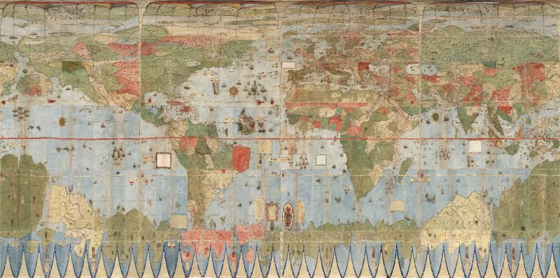 Планисфера Монте с географической привязкой