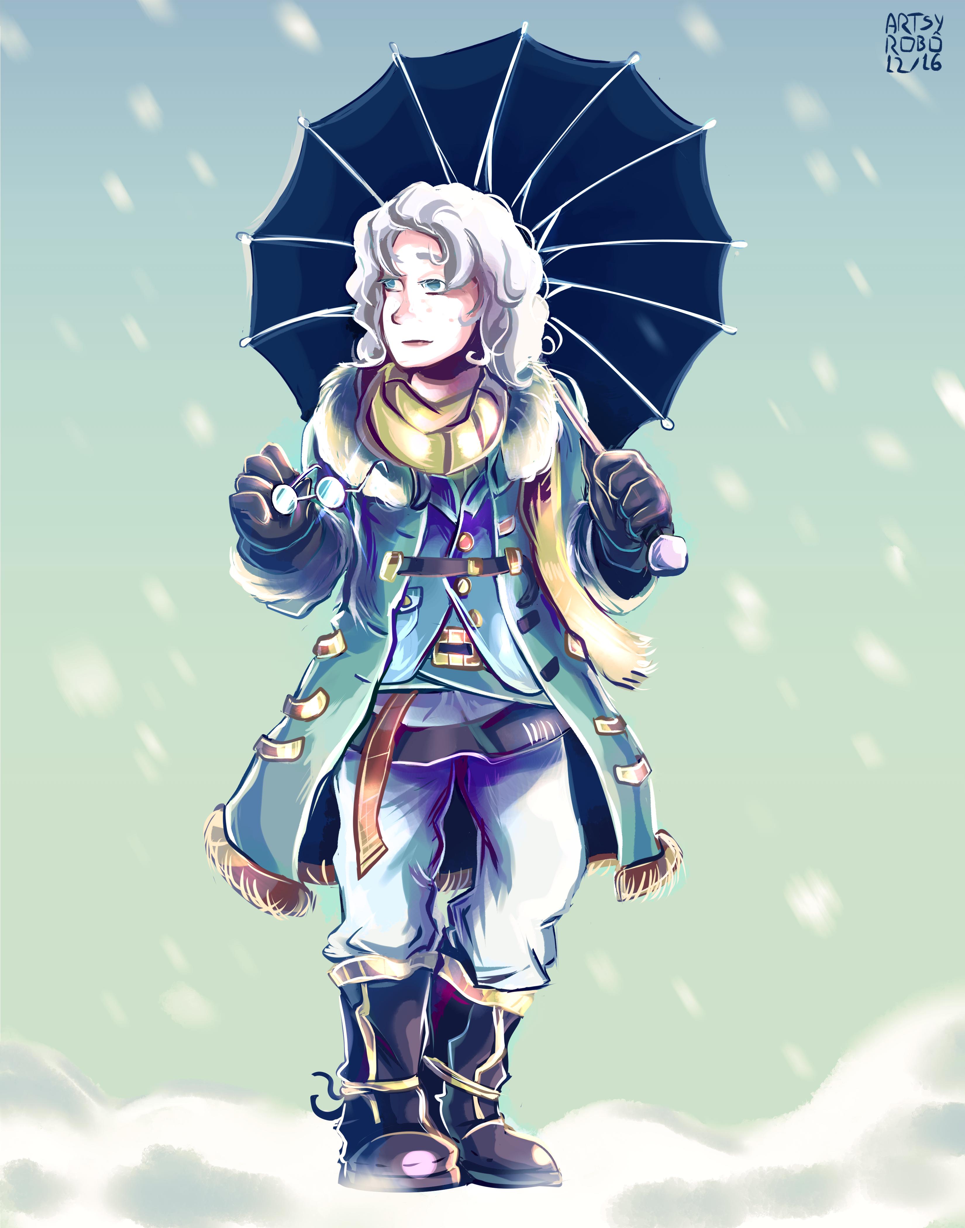 Kulfi Kulikov standing in snow