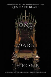 book cover of One Dark Throne