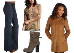 джинсы боты пальто