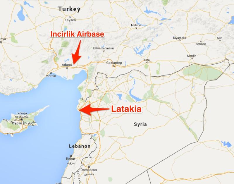 26.09.2015-Сирия-Латакия.-Карта