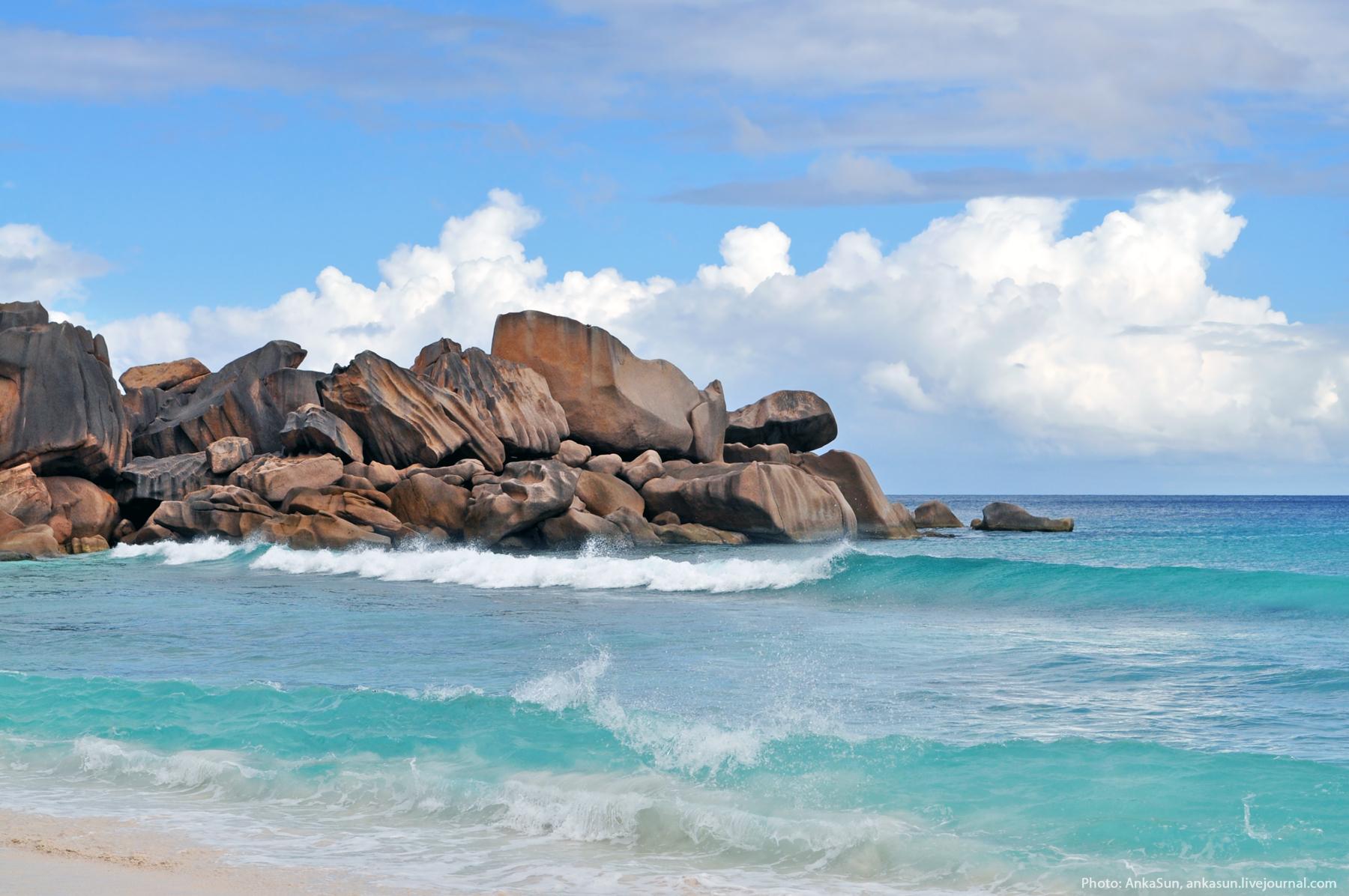 Playa de grande anse en la digue seychelles