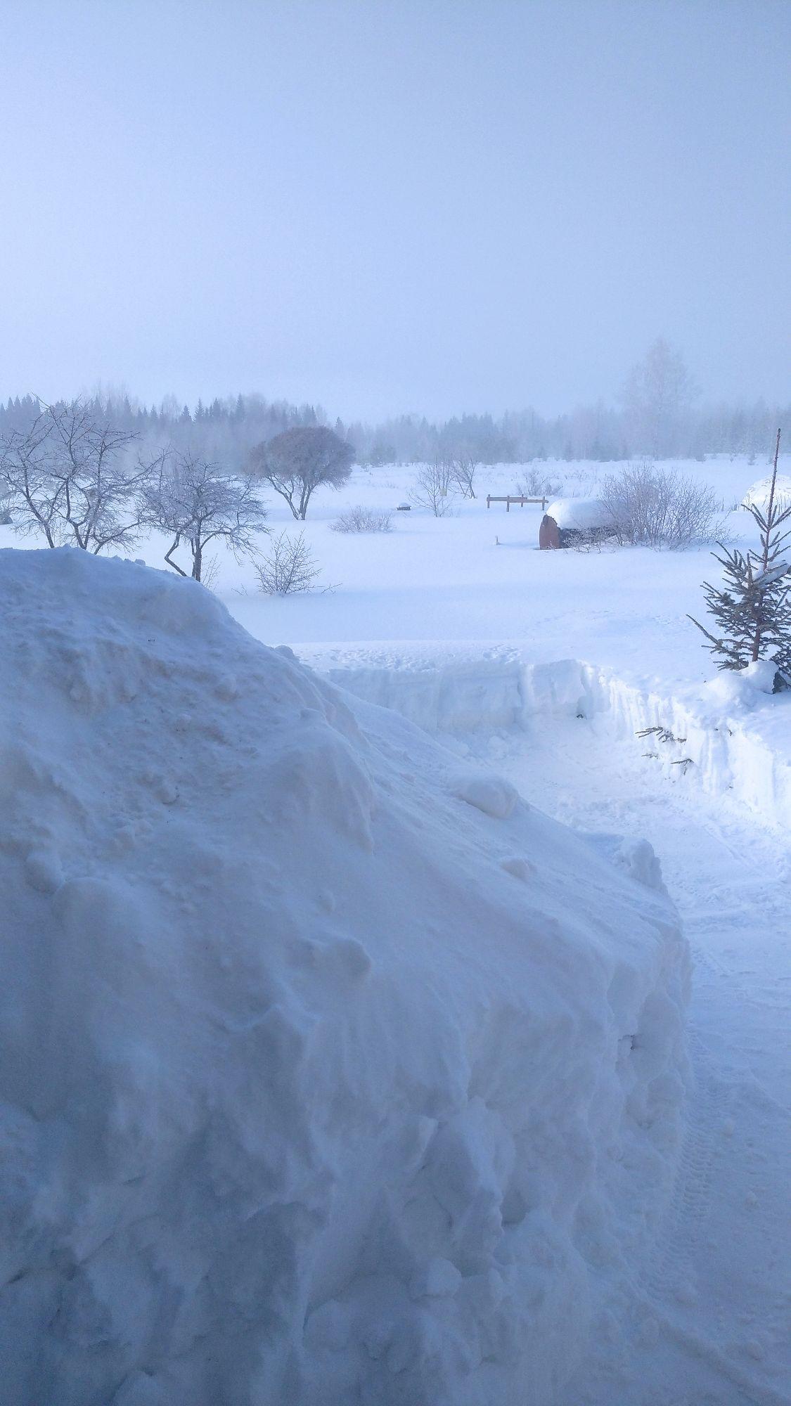 Не припомню, чтобы было столько снега