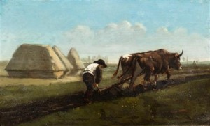 пахота на быках 2