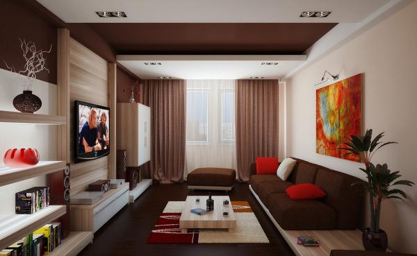 Интерьер одна комната гостиная бюджетный вариант