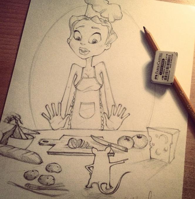 рисунок домохозяйка