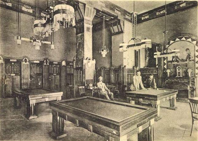 Palermo kávéház billiárd-terem képeslap Bíró Pál fényképe