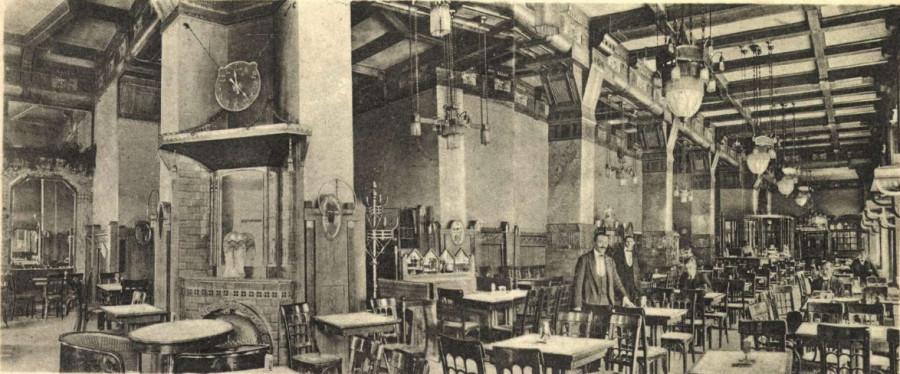 palermo-kávéház képeslap Bíró Pál fényképe