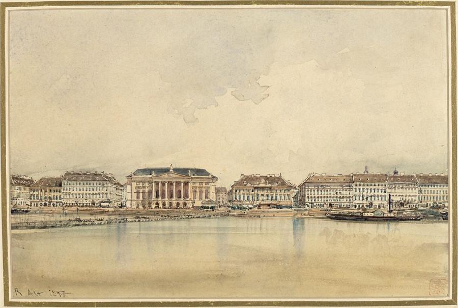 Budapest_Die_Untere_Donauzeile_in_Pest_Alsó_Dunapart_Pesten_1847_Rudolf_von_Alt