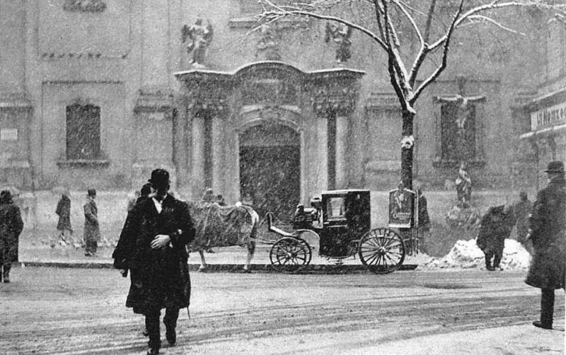 A Ferenciek tere 1927 telén
