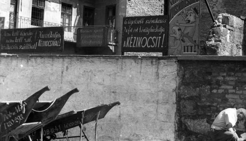 1958. Magyarország, Budapest VII. Dob utca 41.