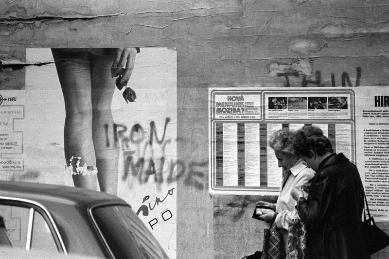 1983. Magyarország, Budapest VII. a Dob utca 6. kiszögellő oldalfala.