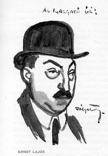375px-Pólya_Tibor_karikaturája_Ernst_Lajosról_1915