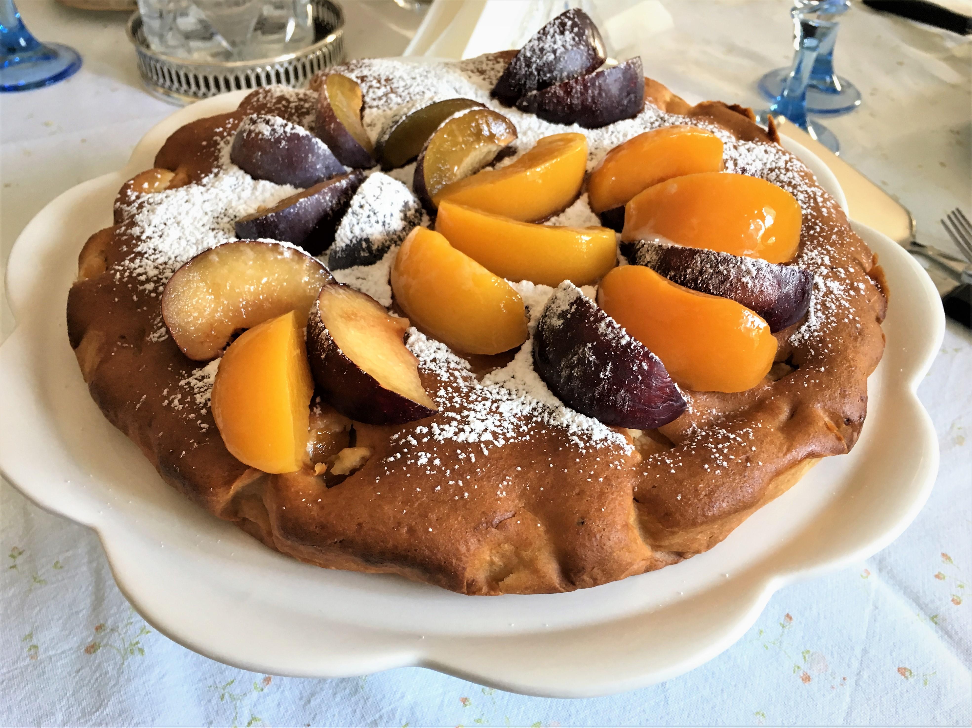 Фруктово-творожный пирог из Италии