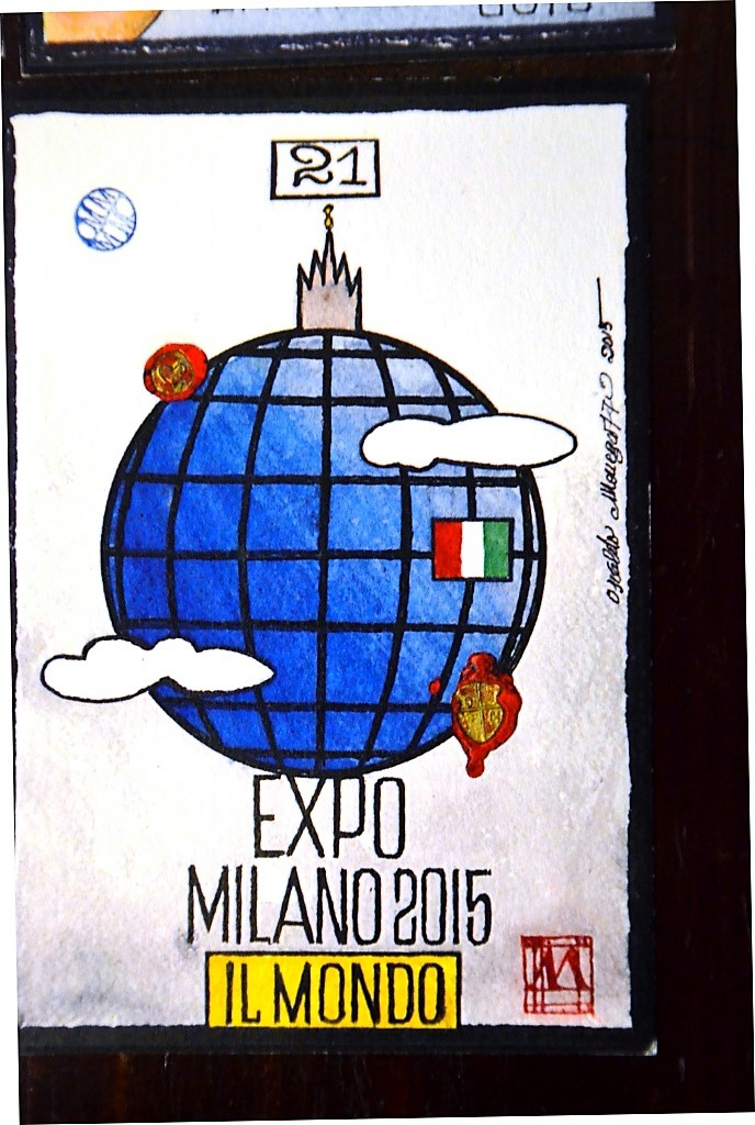 Колода карт, изготовленная специально к Экспо в Милане