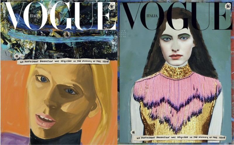 Copyright © David Salle and Paolo Ventura for Vogue Italia