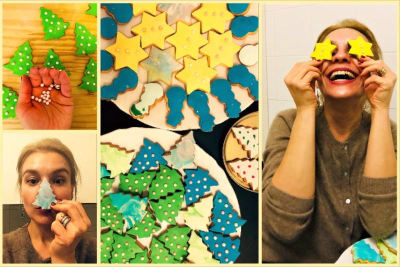 Праздничное печенье к Рождеству
