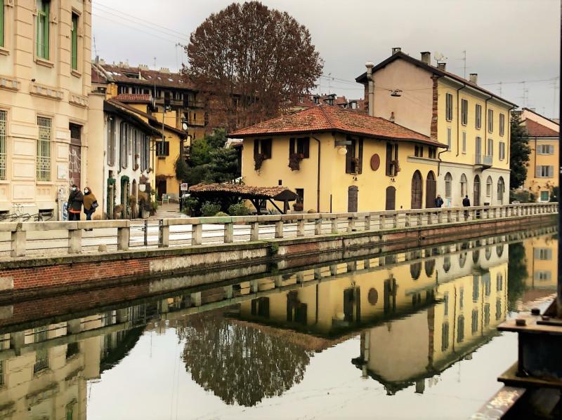 Vicolo dei Lavandai: вид на переулок с противоположной стороны канала. Фото: Анна Черткова