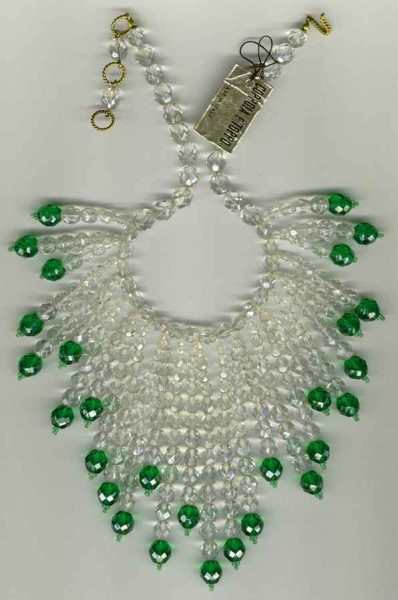 CeT clear and green necklace