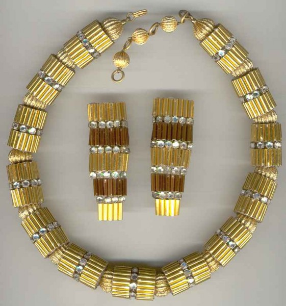 CeT gold tube necklace_ ergs
