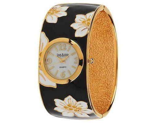 joan-rivers-enameled-floral-hinged-bangle-watch-9