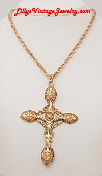 ART_gothic_golden_dross_pendant_necklace_1