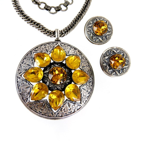 early-napier-pat-pend-silver-citrine-necklace-ears-set-007