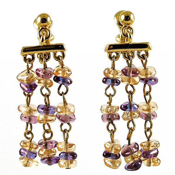 JWE008 - Napier Purple Dangle Earrings