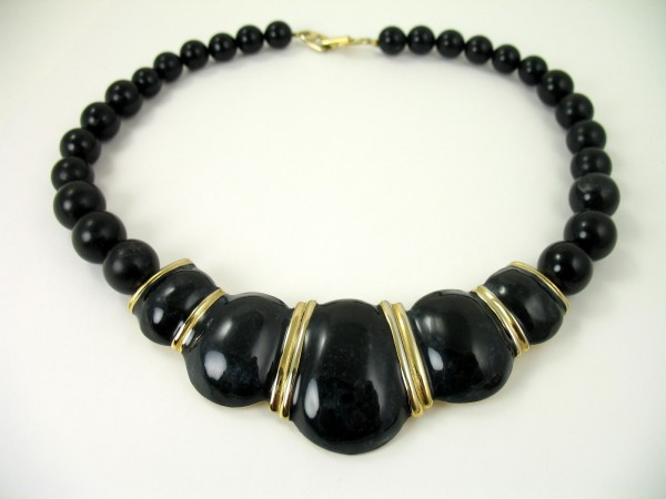 napier-black-collar-enamel-necklace-1