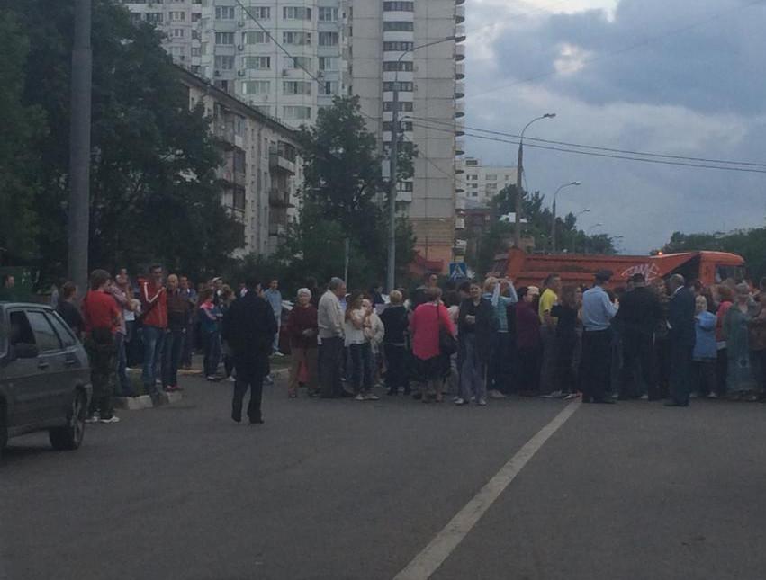 сколково перекрыли дорогу на ул. Витебской