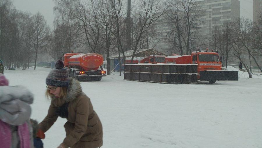 коптево снегоуборщики в парке 2