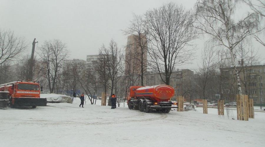 коптево снегоуборщики в парке 4