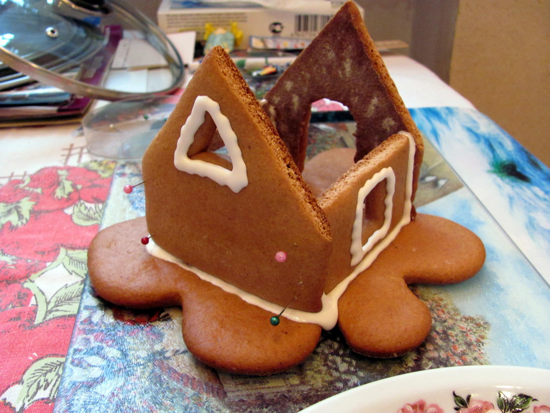 Рождественский пряничный домик рецепт с фото 3