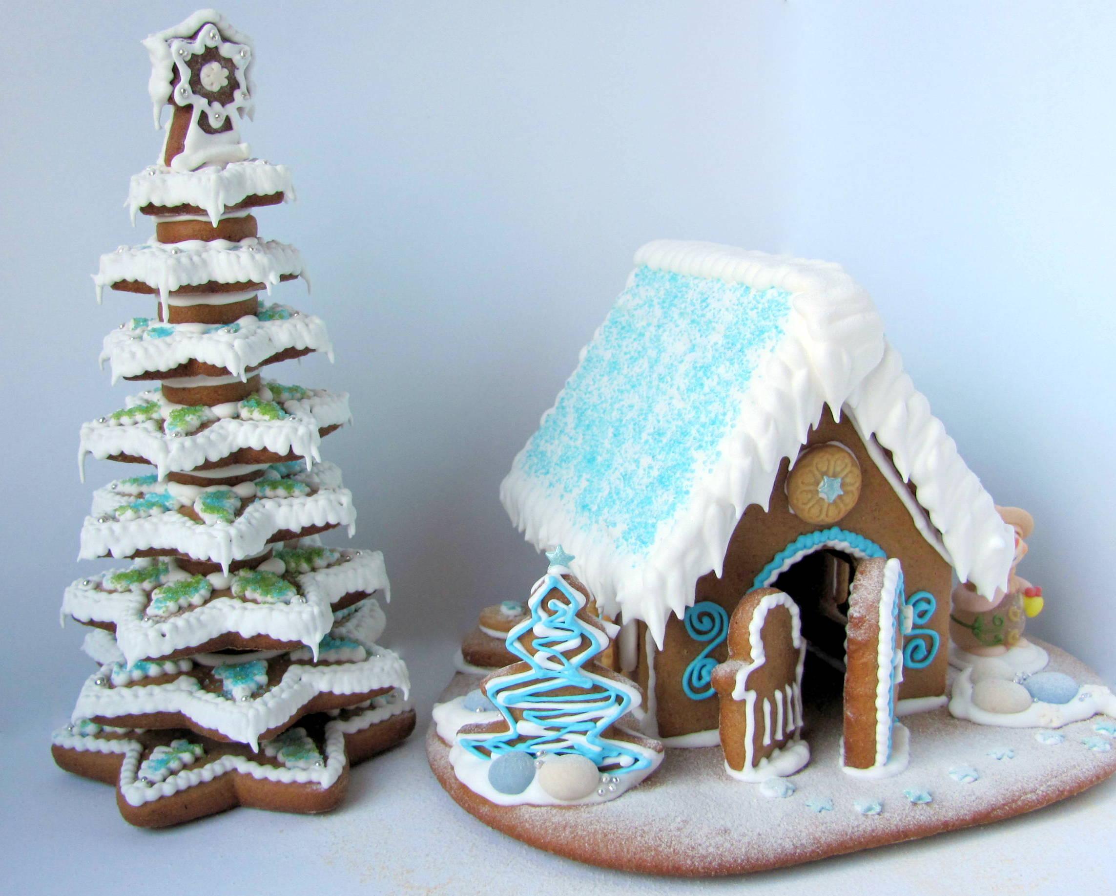 Рождественский пряничный домик рецепт с фото 2