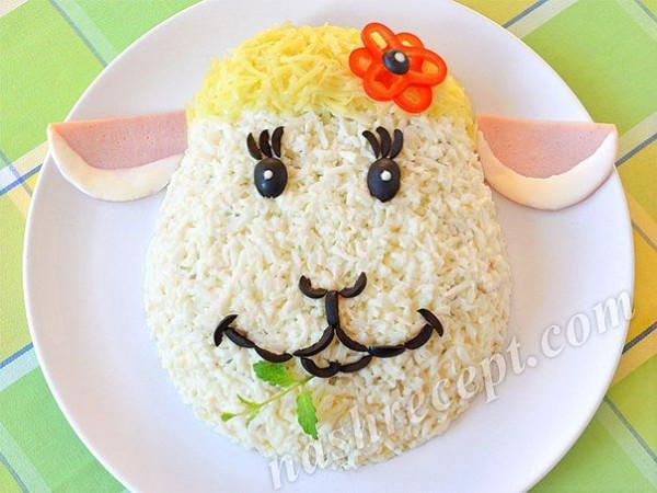 Салат овечка на новый год 2015 с фото