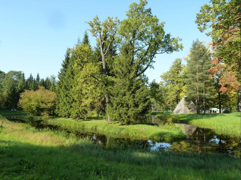 Водный лабиринт, лиственный остров