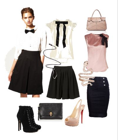 Рубашка юбка и бабочка