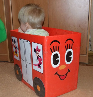 Детские игрушки из коробок своими руками